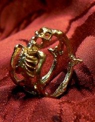 skeleton gold ring