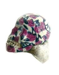 skull flower rose_800x600