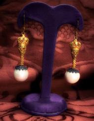 orecchini coronati teschi