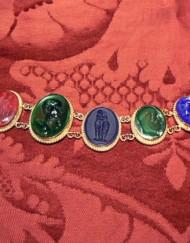 Bracelet glass p venetian cameo