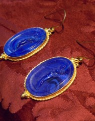 earrings glass paste