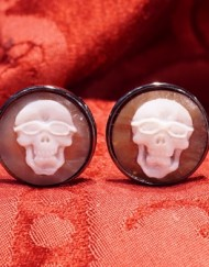 orecchini teschio occhiale