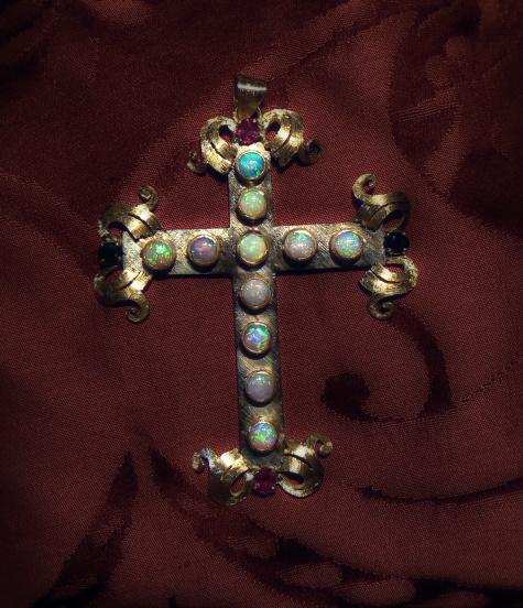 croce argento oro