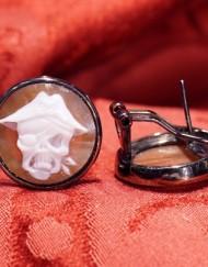 orecchini cammeo benda