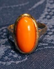 anello corallo ovale