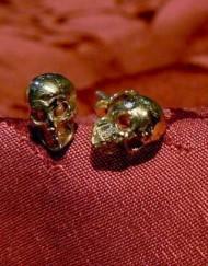 orecchini micro teschi