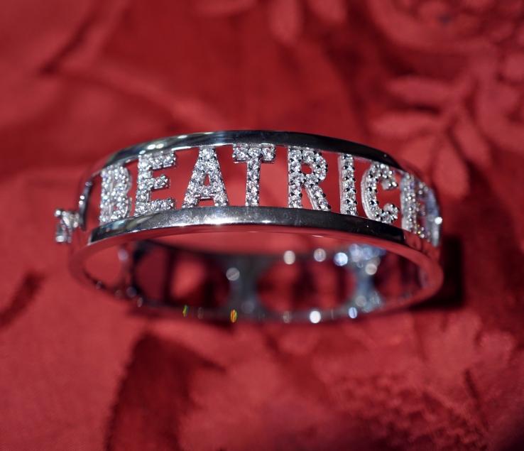 nuovo concetto 1807b 69b35 Braccialetto con nome personalizzato serie argento ...