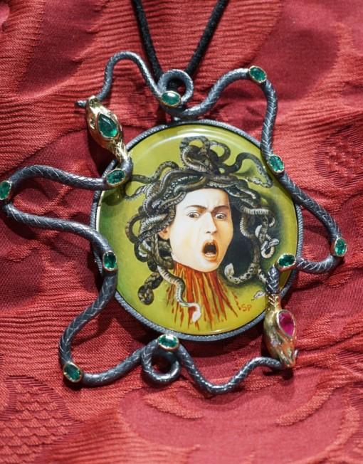 Medusa di Caravaggio gran pendente
